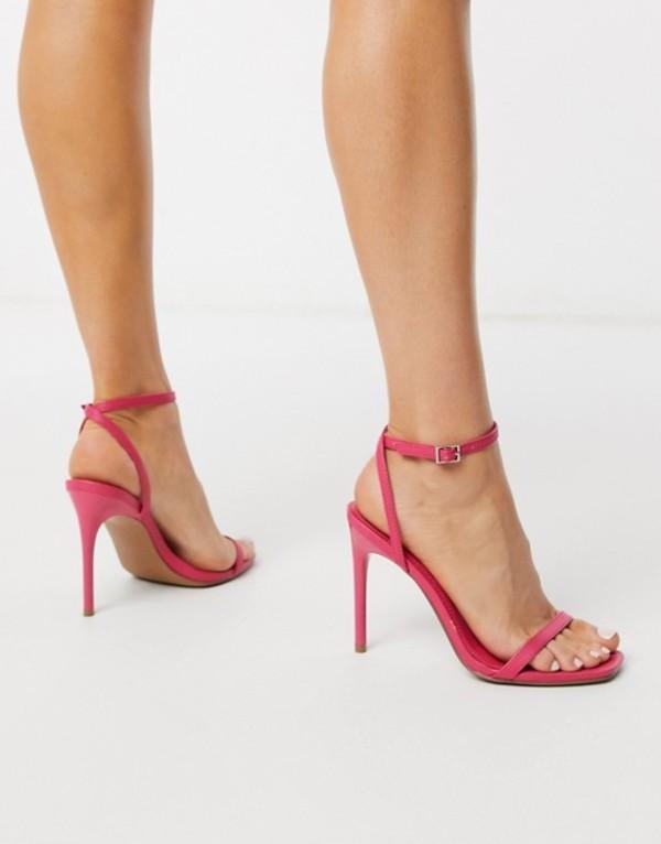 エイソス レディース サンダル シューズ ASOS DESIGN Nova barely there heeled sandals in pink Pink