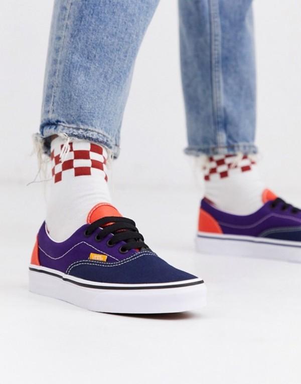 バンズ レディース スニーカー シューズ Vans Era Mix and Match sneakers in purple multi Blackwhite
