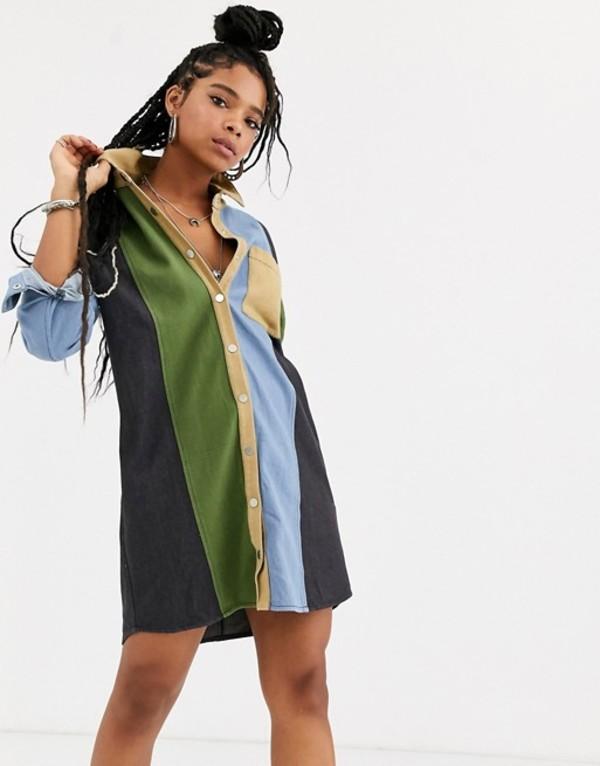 エモリー パーカー レディース ワンピース トップス Emory Park shirt dress in contrast panels Multi