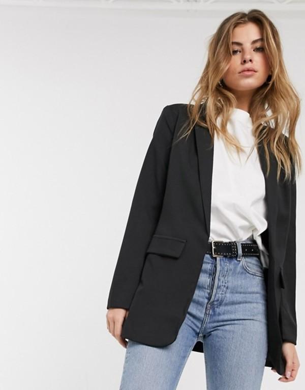 ニュールック レディース ジャケット・ブルゾン アウター New Look tailored blazer in black Black