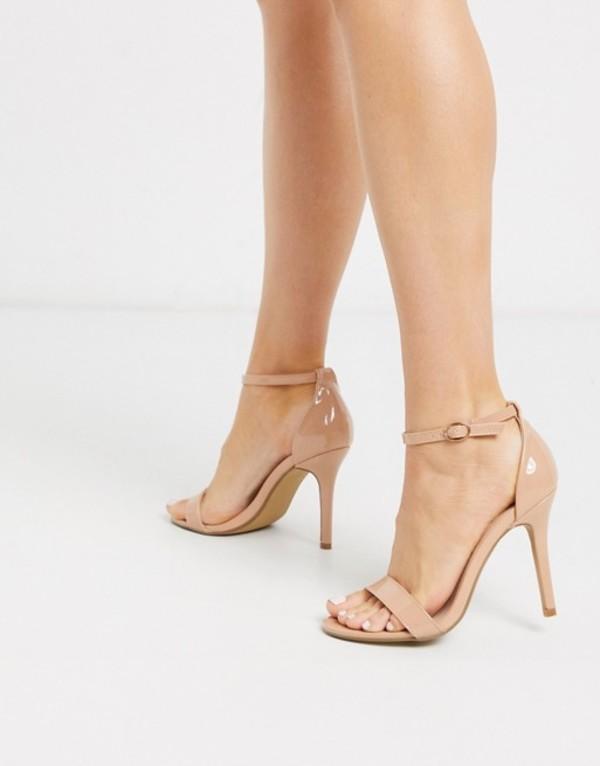 グラマラス レディース サンダル シューズ Glamorous stilleto heeled sandal in beige patent Beige patent