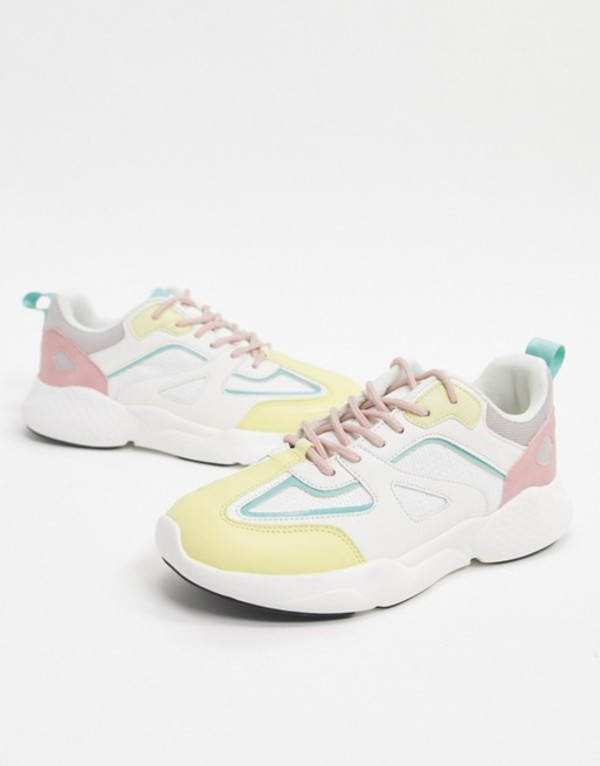 エイソス レディース スニーカー シューズ ASOS DESIGN Dominican chunky sneakers in pastel mix Pastel mix