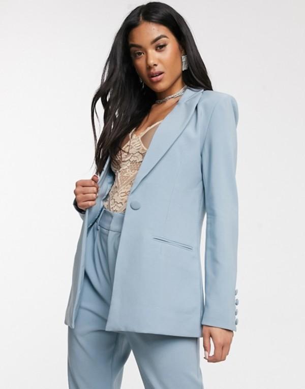 フォース&レックレス レディース ジャケット・ブルゾン アウター 4th + Reckless fitted suit blazer in blue Blue