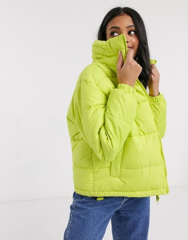 ブレーブソウル レディース コート アウター Brave Soul slate padded coat Lime