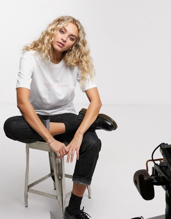 フレッドペリー レディース Tシャツ トップス Fred Perry logo t-shirt White