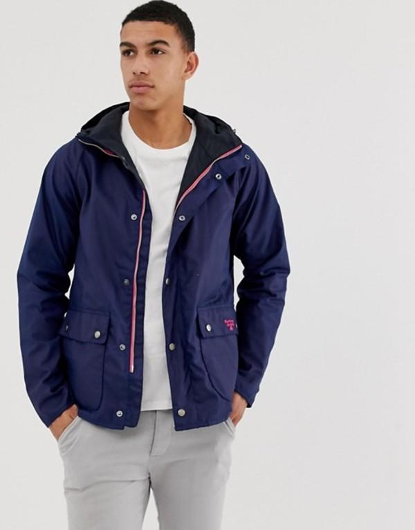 バーブァー メンズ ジャケット・ブルゾン アウター Barbour Beacon Pass wax jacket with hood in navy Navy