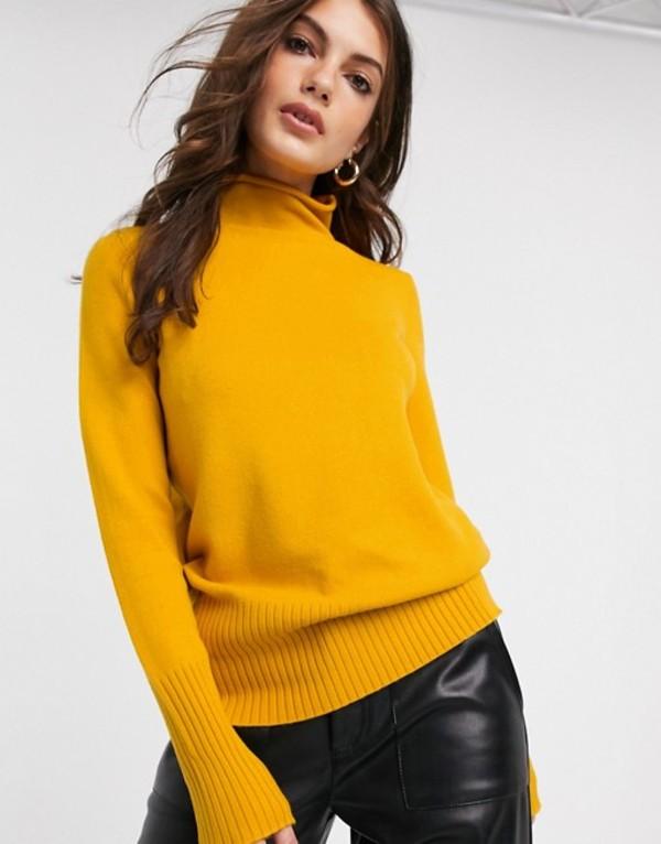 フレンチコネクション レディース ニット・セーター アウター French Connection Del Vhari front seam sweater Calluna yellow