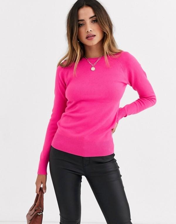 フレンチコネクション レディース ニット・セーター アウター French Connection Babysoft raglan knit sweater Prosecco pink