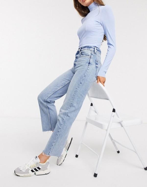 アンドアザーストーリーズ レディース デニムパンツ ボトムス & Other Stories high-waist straight leg jeans in bleached blue Light blue