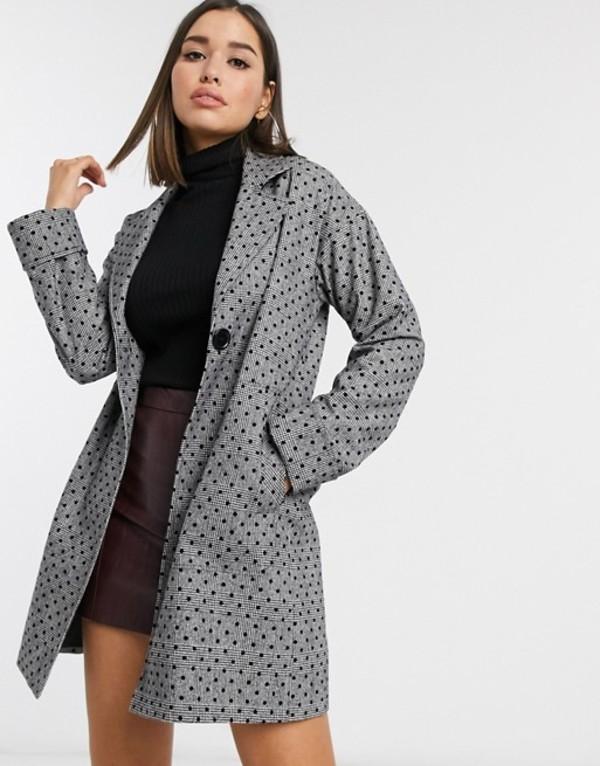 ヘレンベーマン レディース コート アウター Helene Berman tailored polka dot & check coat Polka dot check