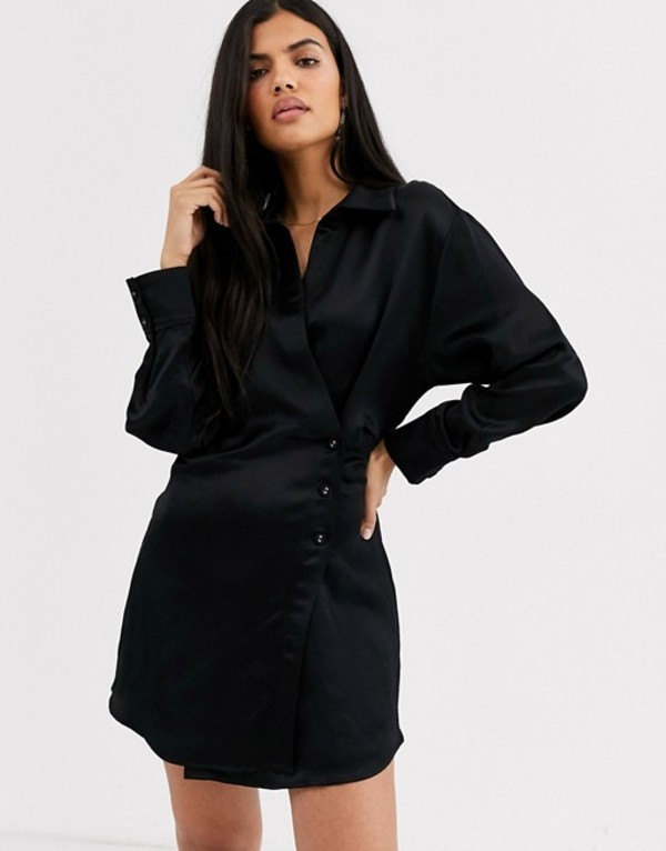 アンドアザーストーリーズ レディース ワンピース トップス & Other Stories side button blazer dress in black Black