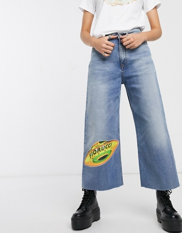フィオルッチ レディース デニムパンツ ボトムス Fiorucci UFO angels Sara wide leg jeans Light vintage