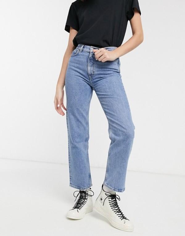 アンドアザーストーリーズ レディース デニムパンツ ボトムス & Other Stories Dimitri high waist mom jeans in mid blue wash Mid blue wash