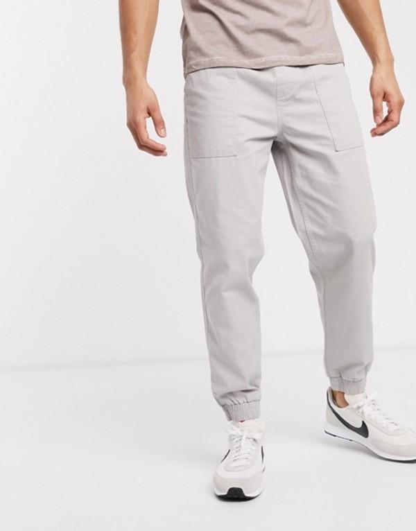 ニュールック メンズ カジュアルパンツ ボトムス New Look cuffed utility pants in gray Gray