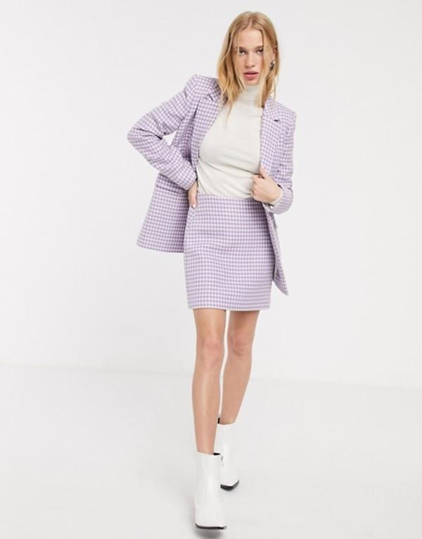 アンドアザーストーリーズ レディース スカート ボトムス & Other Stories gingham check pelmet skirt in lilac Lilac check
