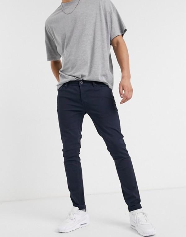ジャック アンド ジョーンズ メンズ カジュアルパンツ ボトムス Jack & Jones Intelligence skinny fit 5 pocket pants in navy Navy blazer