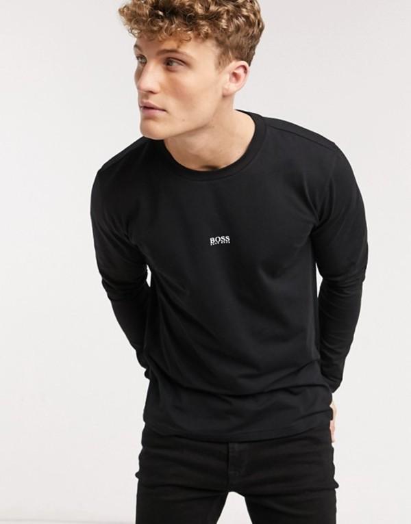 ボス メンズ シャツ トップス BOSS TChark long sleeve top in black Black