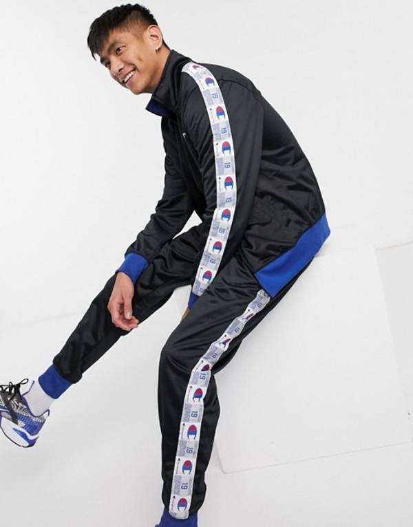 チャンピオン メンズ カジュアルパンツ ボトムス Champion Tricot track pants in black Black