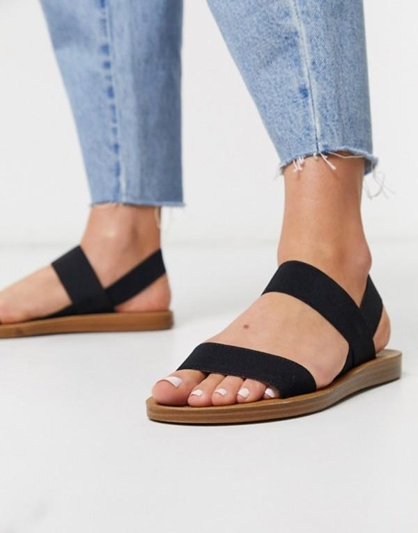 スティーブ マデン レディース サンダル シューズ Steve Madden Roma flat sandals in black Black