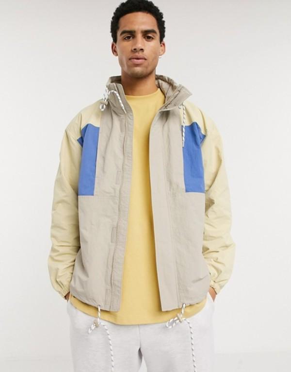 ウィークデイ メンズ ジャケット・ブルゾン アウター Weekday Justin jacket in color block beige Beige