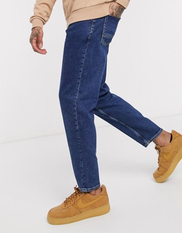 ニュールック メンズ デニムパンツ ボトムス New Look original fit jeans in dark wash Dark blue