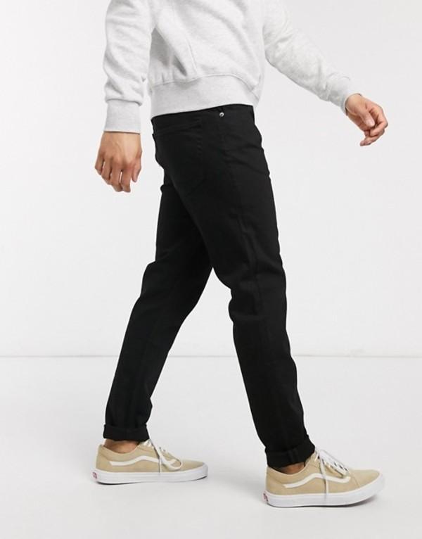 ウィークデイ メンズ デニムパンツ ボトムス Weekday Sunday relaxed tapered jeans in black Black