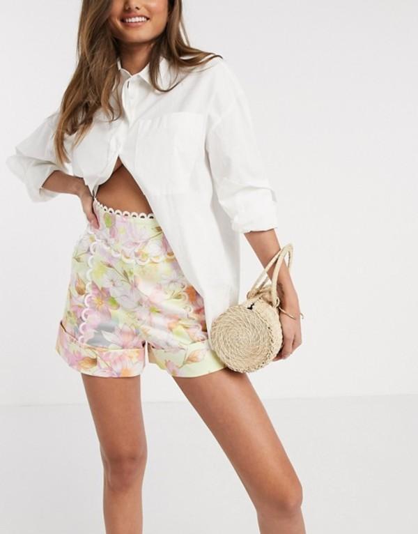 リバーアイランド レディース ハーフパンツ・ショーツ ボトムス River Island floral print shorts in multi Print