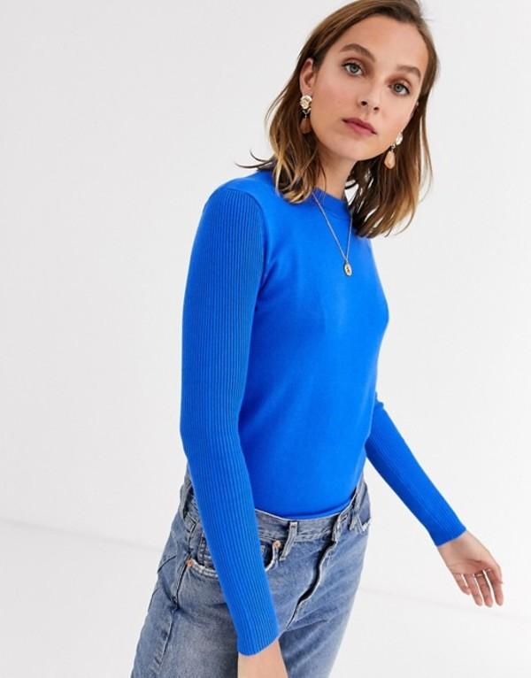 ジャンニ フェロー レディース ニット・セーター アウター Gianni Feraud crewneck knit sweater in cobalt blue Cobalt