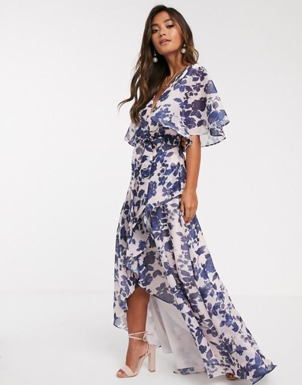 キープセイク レディース ワンピース トップス Keepsake halo floral gown Mink botanical
