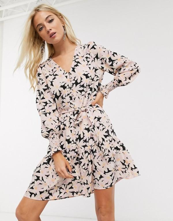 オンリー レディース ワンピース トップス Only button front mini dress in floral print Multi