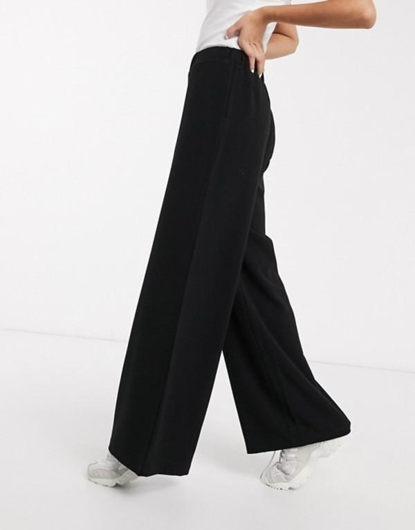 ドクターデニム レディース カジュアルパンツ ボトムス Dr Denim wide leg pants Black