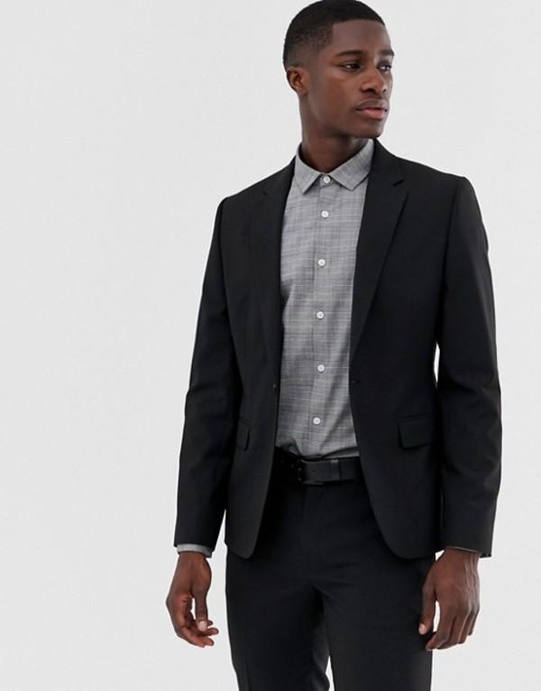 エイソス メンズ ジャケット・ブルゾン アウター ASOS DESIGN skinny suit jacket in black Black