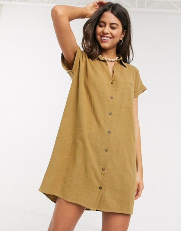 リップカール レディース ワンピース トップス Rip Curl The Adrift cotton dress in caramel Caramel