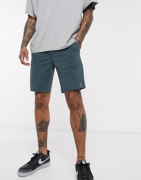 ファーラー メンズ ハーフパンツ・ショーツ ボトムス Farah Hawk dyed chino shorts Green
