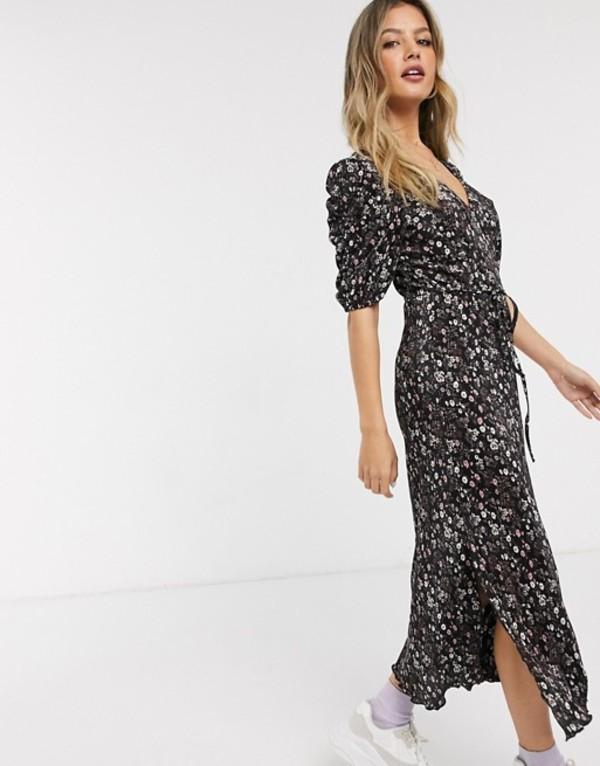 ミスセルフフリッジ レディース ワンピース トップス Miss Selfridge midi plisse dress in floral print Multi