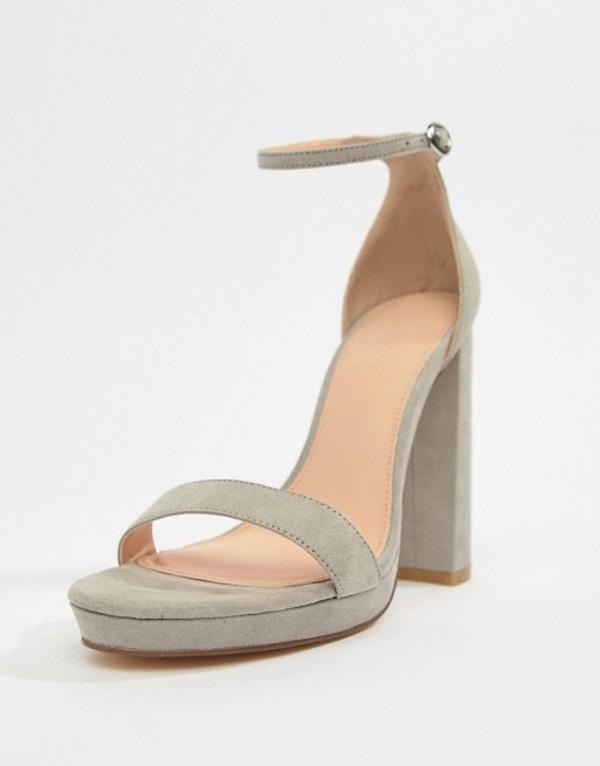 ココレン レディース サンダル シューズ Coco Wren Platform Heeled Sandals Gray