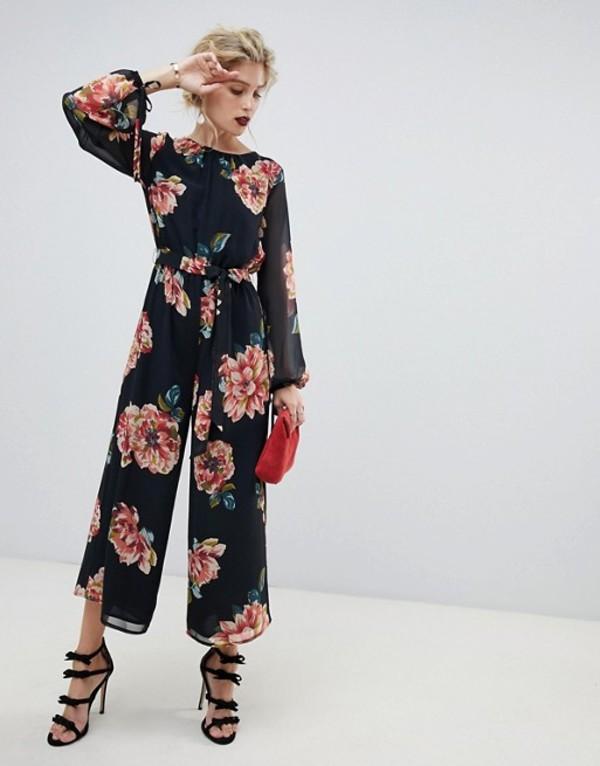 エイソス レディース ワンピース トップス ASOS DESIGN bold floral print jumpsuit Multi