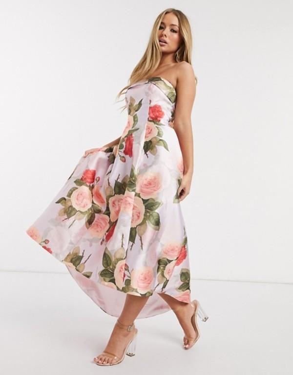 チチロンドン レディース ワンピース トップス Chi Chi London midaxi prom dress in floral print Floral
