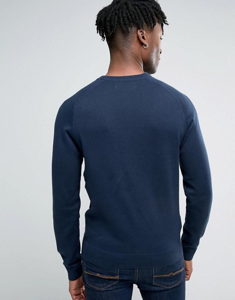 Original Penguin Strong Cotton Long Sleeve Top Light Sweatshirt Crew Navy M New