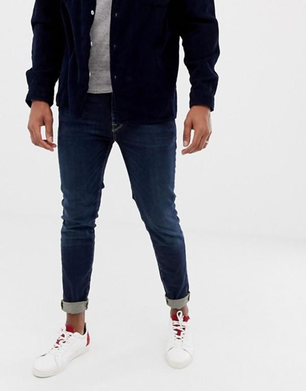 セレクテッドオム メンズ デニムパンツ ボトムス Selected Homme skinny fit jeans in mid blue wash Blue