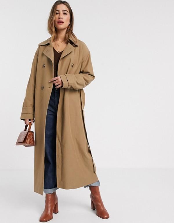 マンゴ レディース コート アウター Mango maxi trench coat in tan Tan