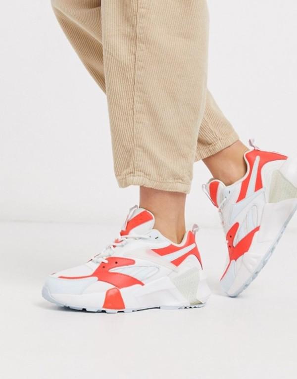 リーボック レディース スニーカー シューズ Reebok Aztrek Double sneakers in white and orange Orange