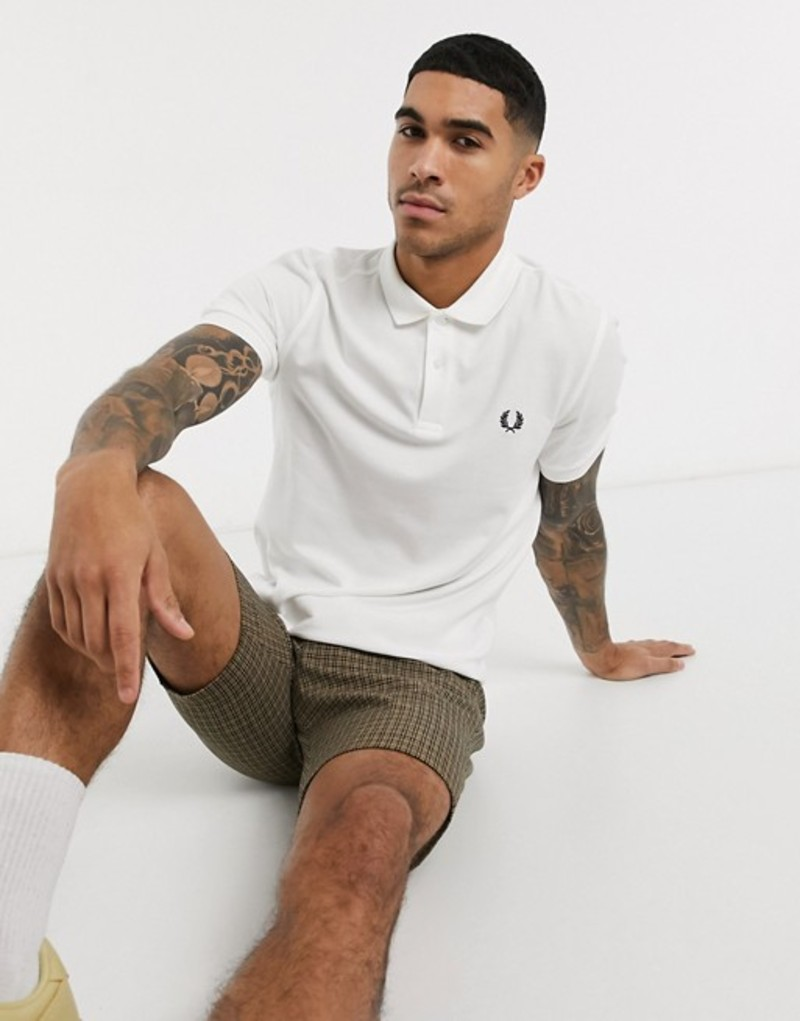 フレッドペリー メンズ シャツ トップス Fred Perry plain polo shirt in white Exclusive at ASOS White