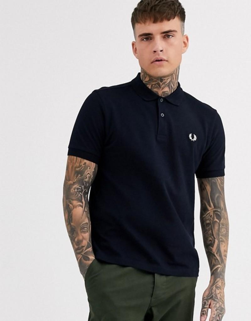 フレッドペリー メンズ シャツ トップス Fred Perry plain polo shirt in navy Navy