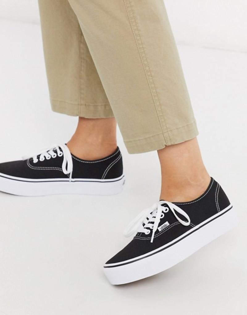 バンズ レディース スニーカー シューズ Vans Authentic Platform 2.0 sneaker in black Black