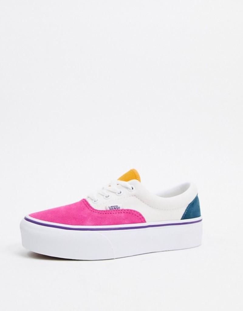 バンズ レディース スニーカー シューズ Vans Era Platform Color Block sneaker in multi Mini cord multi/true