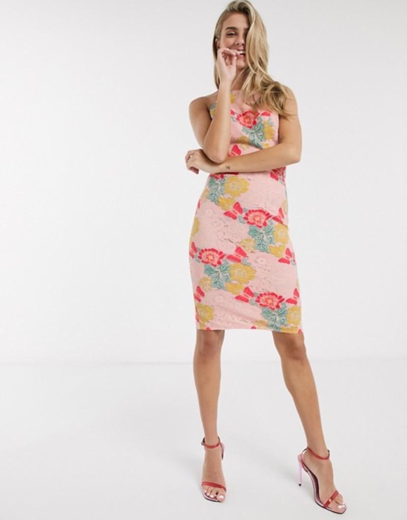 チチロンドン レディース ワンピース トップス Chi Chi Nemi lace dress in multi Pink