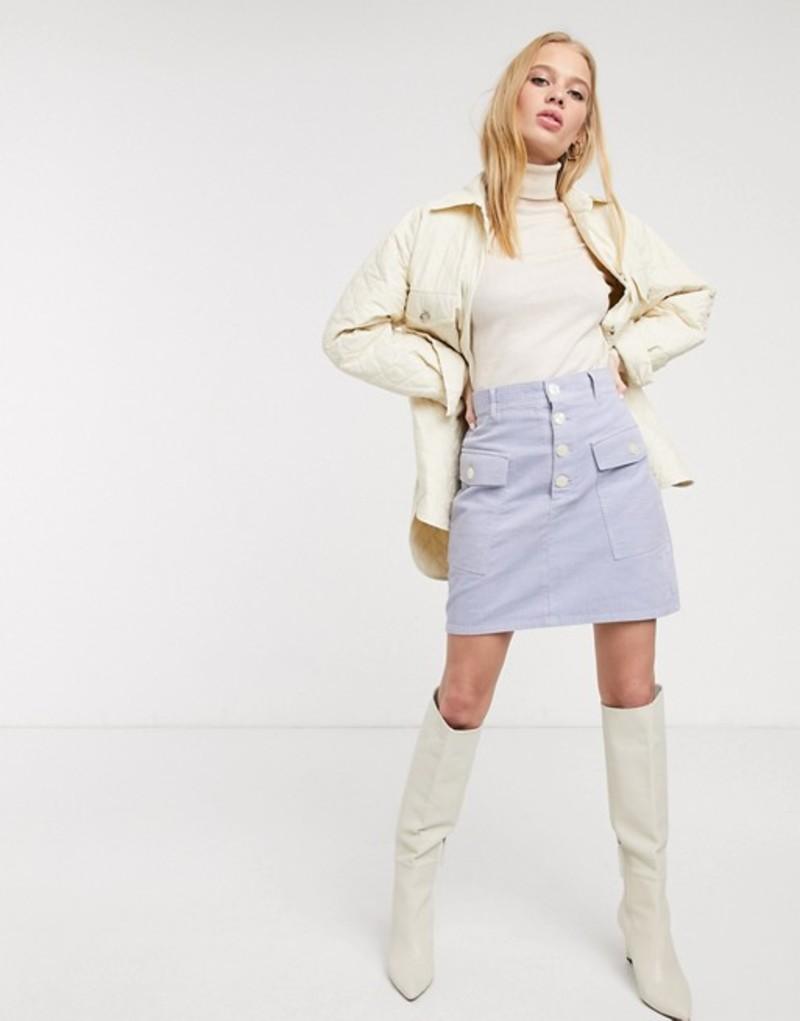 アンドアザーストーリーズ レディース スカート ボトムス & Other Stories pocket detail cord mini skirt in ice blue Light blue71-106