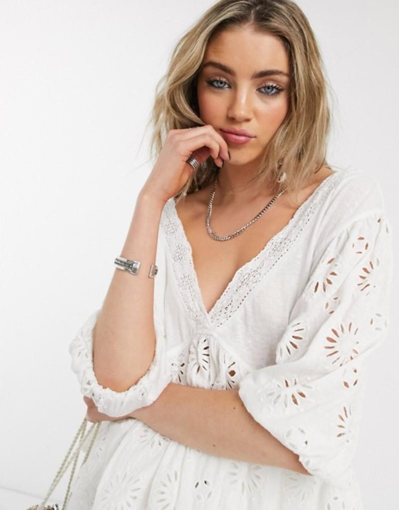 フリーピープル レディース シャツ トップス Free People sweeter side blouse in white White