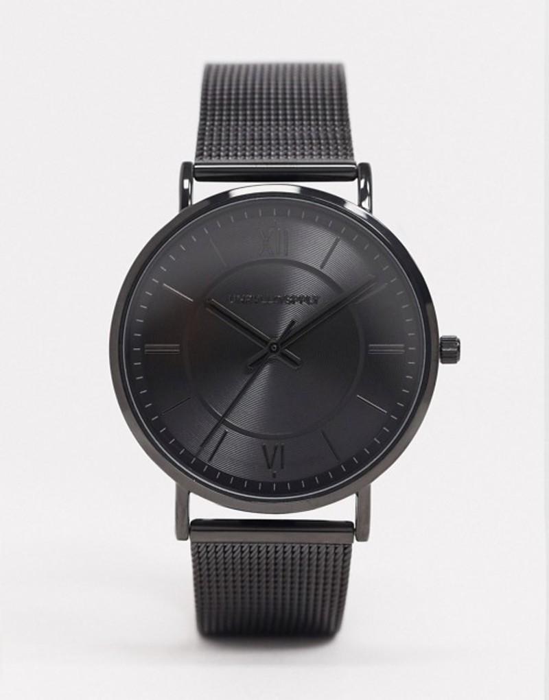 エイソス メンズ 腕時計 アクセサリー ASOS DESIGN mesh watch in black tone Black